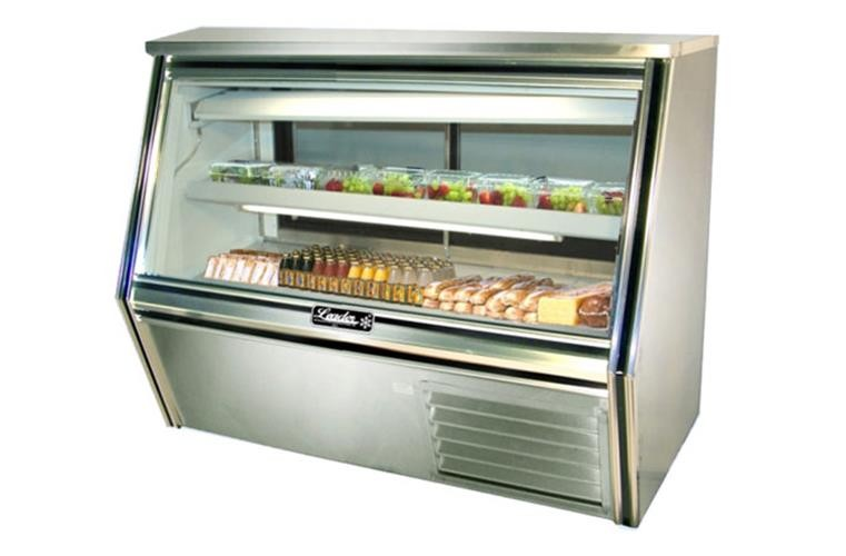 "Leader CDL60- 60"" Refrigerated Glass Counter Deli Case/ Self Contained"