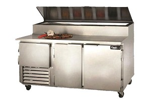 "Leader PT60 - 60"" Refrigerated Pizza Prep Table, 19.1 Cu.Ft."