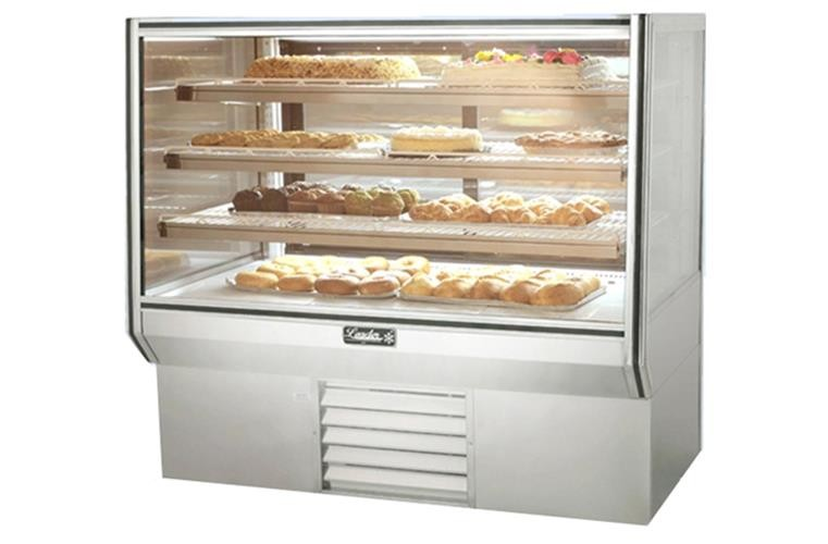 "Leader HBK48- 48"" Refrigerated High Glass Bakery Display Case/ Self Contained, Pastry & Donut Display"