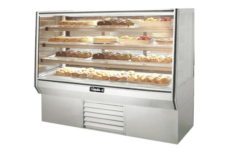 "Leader HBK57-D 57"" High Glass Bakery Display Case/Dry, Pastry & Donut Display"