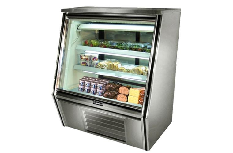 "Leader HDL36- 36"" Double Duty Refrigerated High Deli Display Case/Self Contained with Gravity Coils"