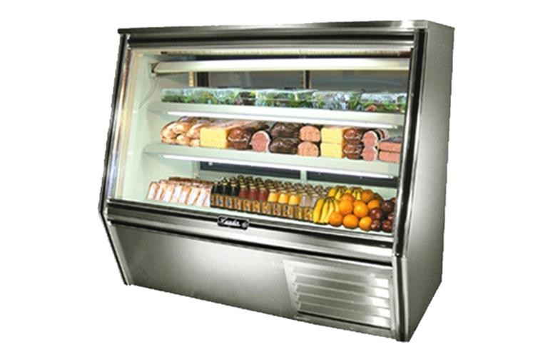 "Leader HDL60- 60"" Double Duty Refrigerated High Deli Display Case/Self Contained with Gravity Coils"