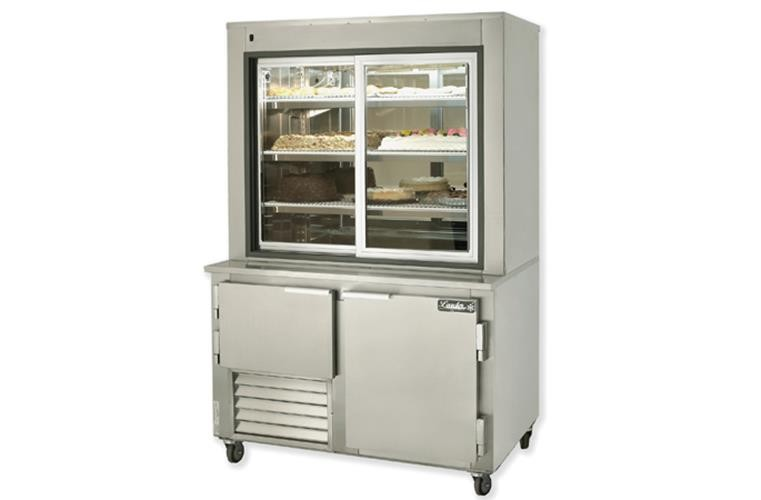 "Leader PC48- 48"" Dessert Display Case With Refrigerated Storage/ Self Contained, Pastry & Donut Display"
