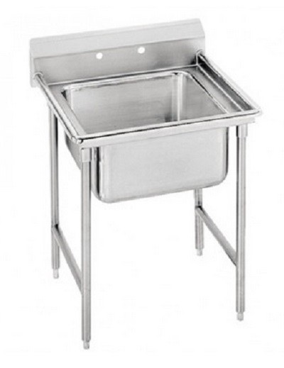 "Evoo (EDD2424-1-14D) Stainless Steel 29"" Deep-Drawn Sink One (1) Compartment"