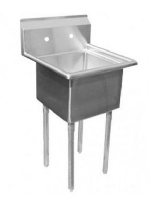 "Evoo (ELJ1515-1) Stainless Steel 20"" X 21"" One (1) Compartment Sink"