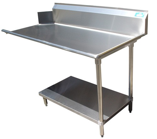 "Evoo (EDHCT-S120L) 120"" Left Clean Dish Table with Stainless Undershelf & Legs"