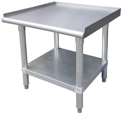"Evoo (EEVG3060) 30"" X 60"" Stainless Steel Equipment Stands with Adjustable Undershelf Galvanized"