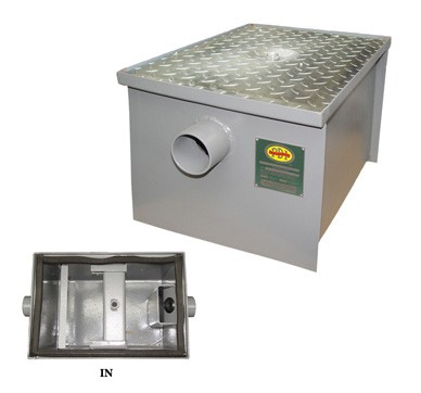 Evoo (ELJ-LO-70) 35GPM NON PDI  Low-Profile Grease Trap (70 lbs)