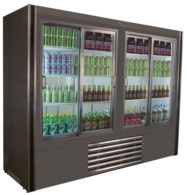 Universal Coolers RW8 - Sliding Glass Door Reach In Refrigerator - 96""