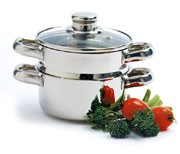NORPRO 1 qt Double Steamer/Cooker - Stainless Steel