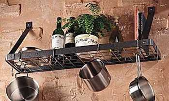 Rogar Bookshelf Pot Racks w/Grid